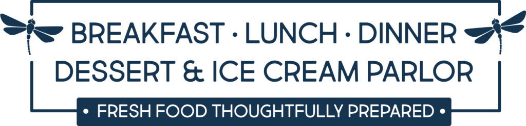 Breakfast, lunch, dinner, dessert and ice cream parlor - fresh food thoughtfully prepared