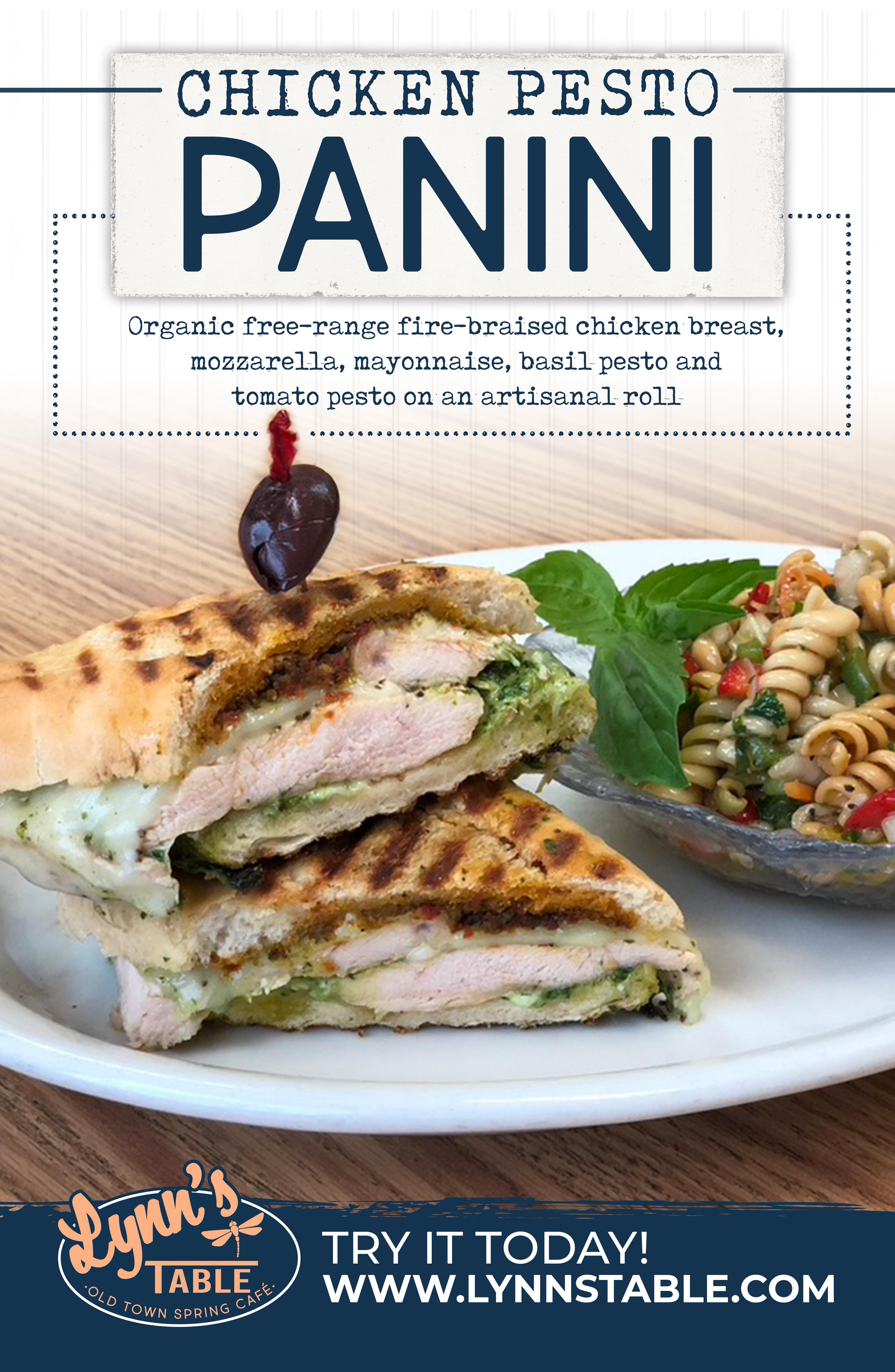 Chicken Pesto Panini - 11x17
